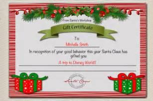 santa gift certificate template gift certificate template 11 word pdf