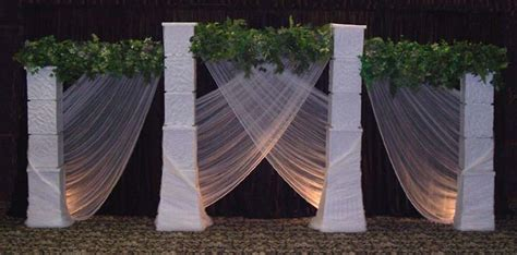 wedding backdrop ideas with columns lizl s one of the color combinations this