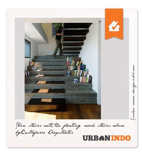 Lu Tangga Minimalis Kayu Promo inspirasi desain tangga kombinasi batu dan kayu
