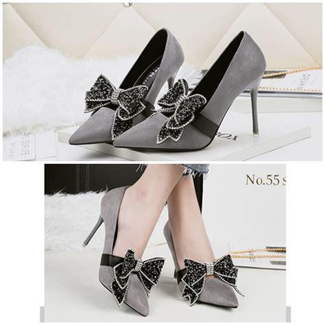Set Tas Handy Ribbon 3in1 jual shh51586 gray sepatu heels ribbon pesta elegan 10 5cm