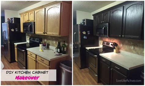 kitchen cabinet makeover kit check out erinstaysfit s kitchen cabinet makeover she