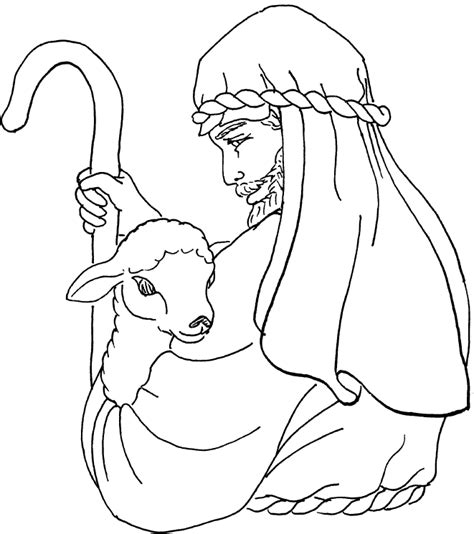 good shepherd coloring activity coloring pages
