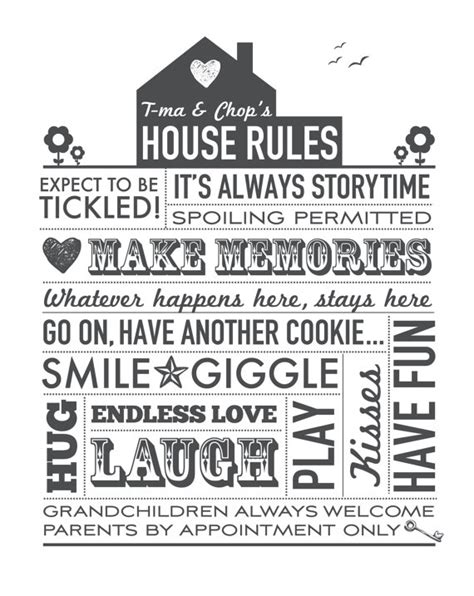 printable house rules custom order 3 grandparents house rules printable