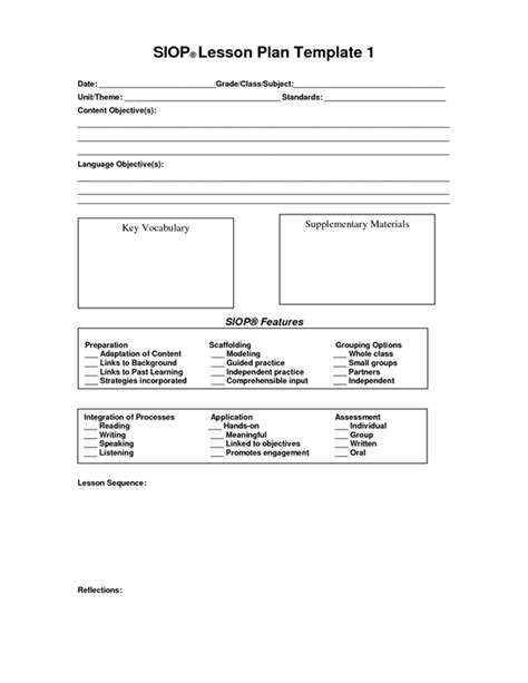 Lesson Plan Observation Template by Lesson Planning Msjacksonsliteracyweb