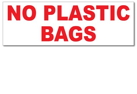 no plastic bags stickers h h h incorporated waste decals