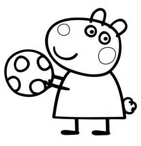 peppa pig colouring pages kids