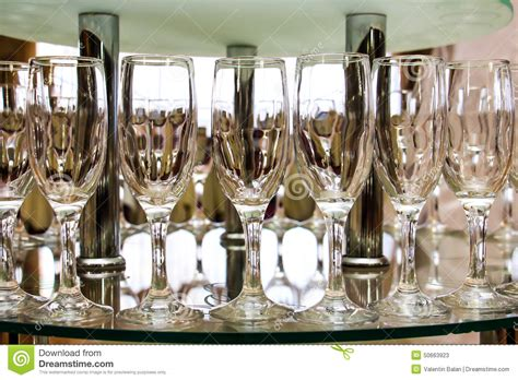 Glasses Table Setting Wine Glasses And Table Setting In Restaurant Stock Photo Image 50663923