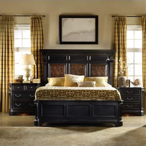 black 3 piece bedroom set hooker furniture telluride mantle bed 3 piece bedroom set