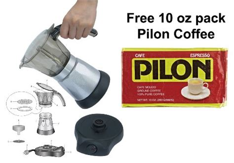 coffee consumers bc classics bc 90264 6 cup electric coffee maker with free pilon coffee 10 oz