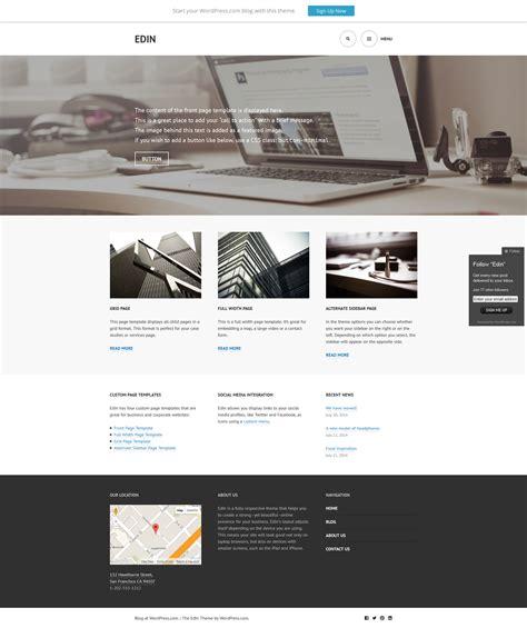 Tutorial Wordpress Edin | free wordpress theme edin doteasy wordpress resources