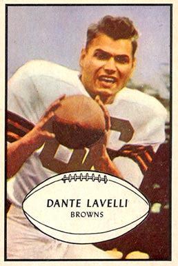 dante lavelli 1953 bowman dante lavelli 15 football card value price guide