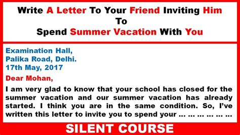 Letter Summer Vacation letter for friend image collections cv letter