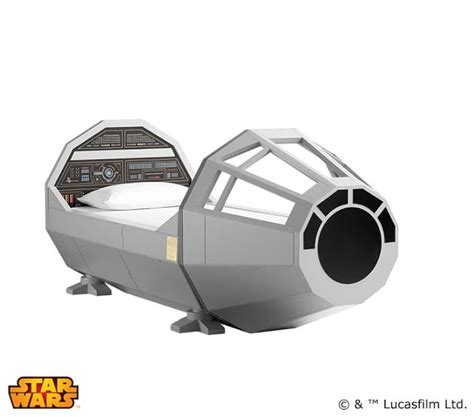 millennium falcon bed i want it pottery barn s 4 000 millennium falcon bed geekologie
