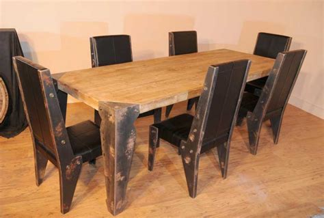 Industrial Dining Table Set Industrial Dining Table Chair Set Vintage