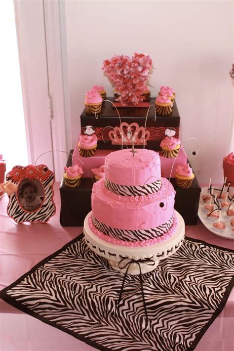 zebra themed birthday party a stylish affair by jessie pink zebra themed first