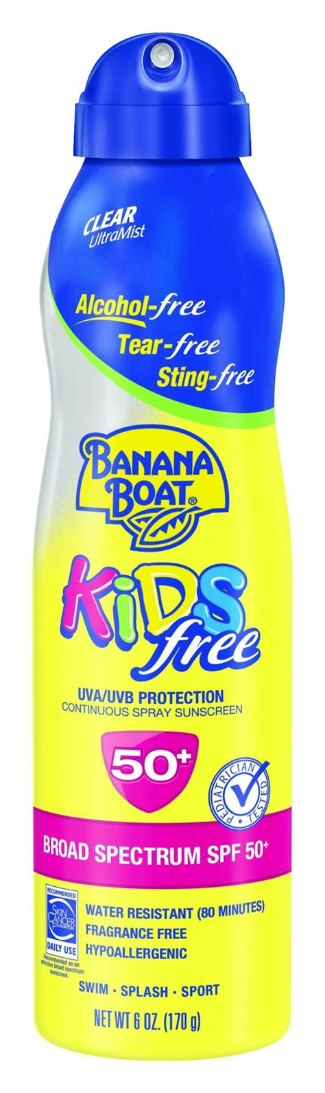 banana boat sunscreen matte banana boat sunscreen kids family size broad