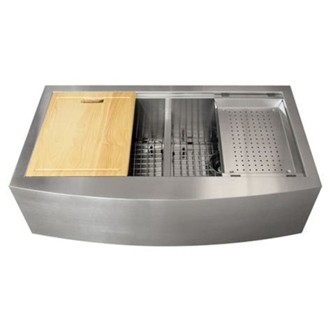 Ticor TR9030 16 Gauge Stainless Steel Apron Kitchen Sink