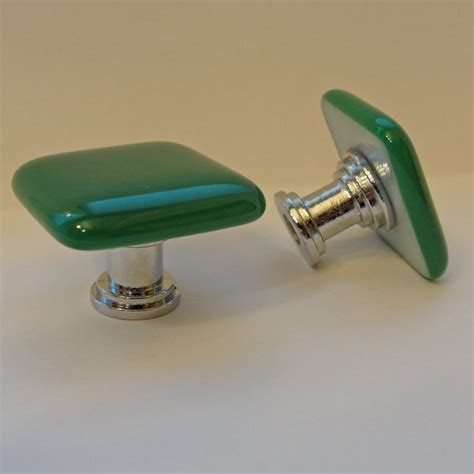 fused glass knob jade colored cabinet knobs pulls by sljglass