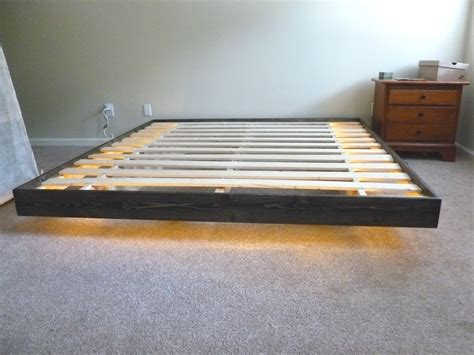 floating platform bed frame modern floating platform bed gallery of mid century