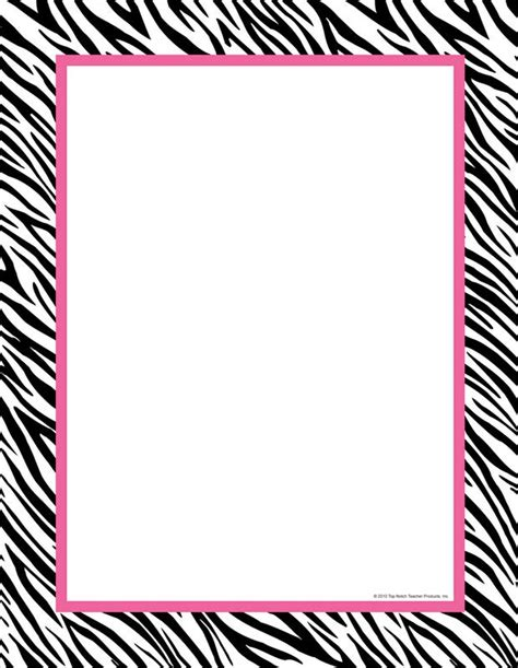 free printable zebra print paper 6 best images of zebra label borders free printable