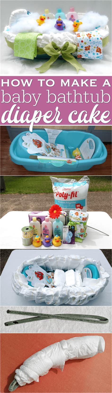how to make a bathtub diaper cake how to make a baby bathtub diaper cake with step by step directions