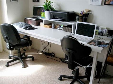 Two Person Workstation For Office And Home Office Homesfeed Two Person Home Office Desk