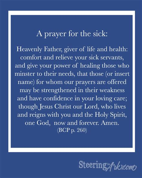 prayer for sick printables steering the ark encouraging christian essential oils family