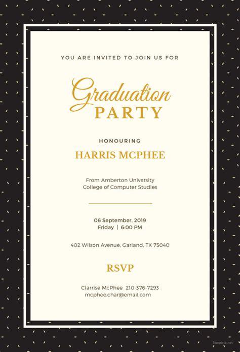 graduation invitation templates invitation templates