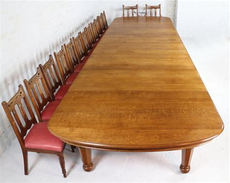 early victorian extra wide oak extending dining table