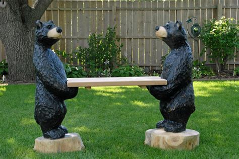 bears bench jay ray s chainsaw carving misc carvings