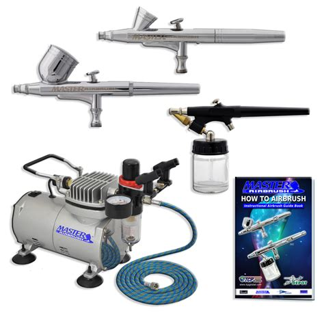 with airbrush new 3 airbrush compressor kit dual spray air