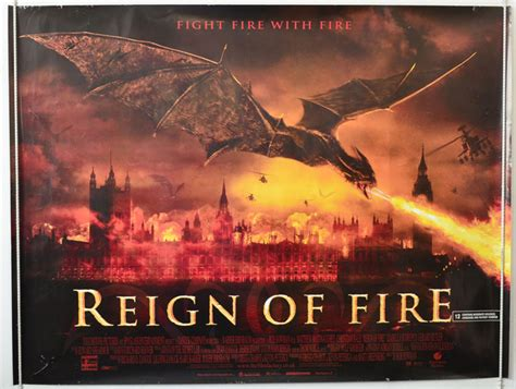 Reign Of Fire 2002 Film Reign Of Fire Original Cinema Movie Poster From Pastposters Com British Quad Posters And Us 1