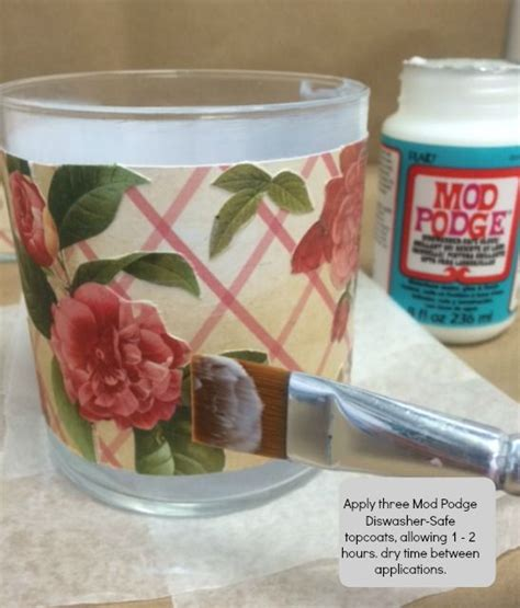 How To Make Decoupage Waterproof - diy decoupage on glass yes it s that easy mod