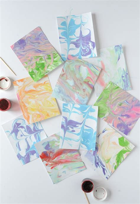 Marbled Paper Craft - 17 best images about crafts on
