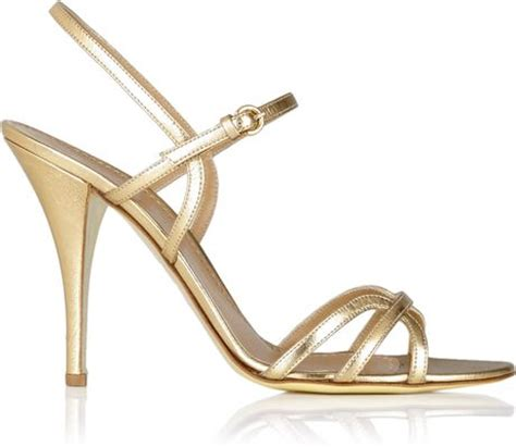 cheap gold sandals moschino cheap chic gold strappy high heel sandal in