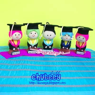 Gantungan Kunci Kado Wisuda Graduation Gift craft souvenir educative toys chubeey doll wisuda