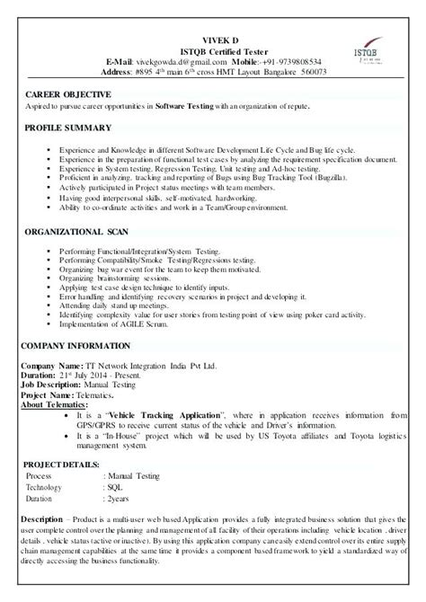Sle Summary For Resume by Resume Summary Exles For Freshers 28 Images Profile