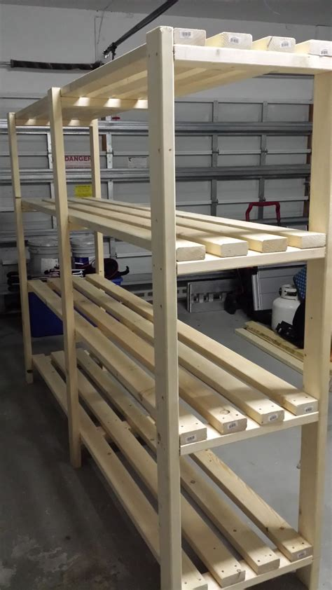 Shelf Building by White Great Plan For Garage Shelf Diy Projects