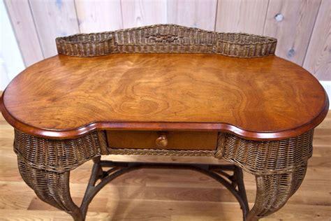 Antique Wicker Desk by Antique Deco Wicker Desk At 1stdibs