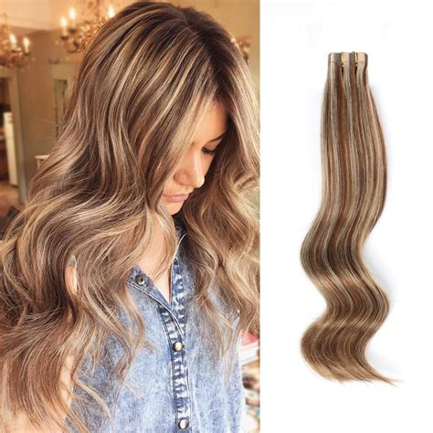 do it yourself hair highlights for med brown hair tape in hair extension p 4 12 medium brown highlights