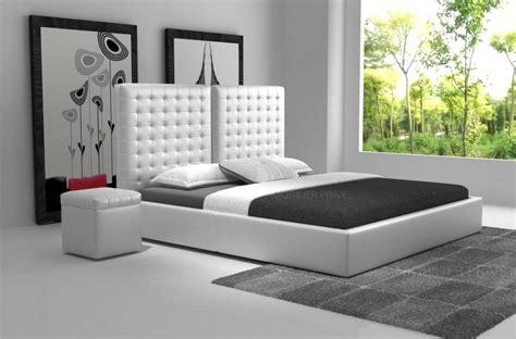 lit de luxe design lit en cuir italien de luxe duo blanc mobilier priv 233