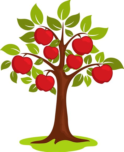 apple tree clipart apple tree image transparent library