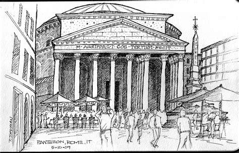 sketchbook rome pantheon sketch unstringing the bow