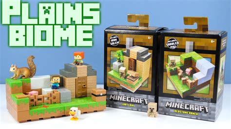 Pajangan Figure Minecraft Mini Figur Minifigures Seri 3 minecraft mini figures plains biome collection 1 of 4 redstone ranch and 3 loot lair playsets