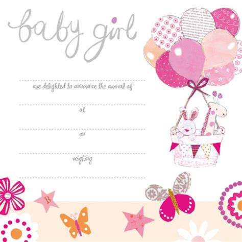 a beautiful new baby girl card karenza paperie