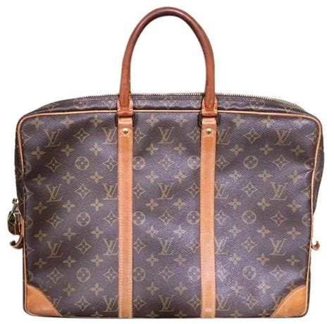 louis vuitton porte documents voyage monogram canvas