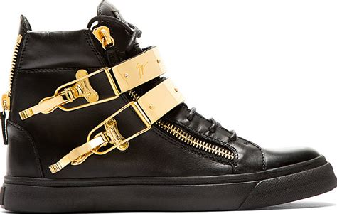 black and gold mens sneakers giuseppe zanotti black and gold double buckle