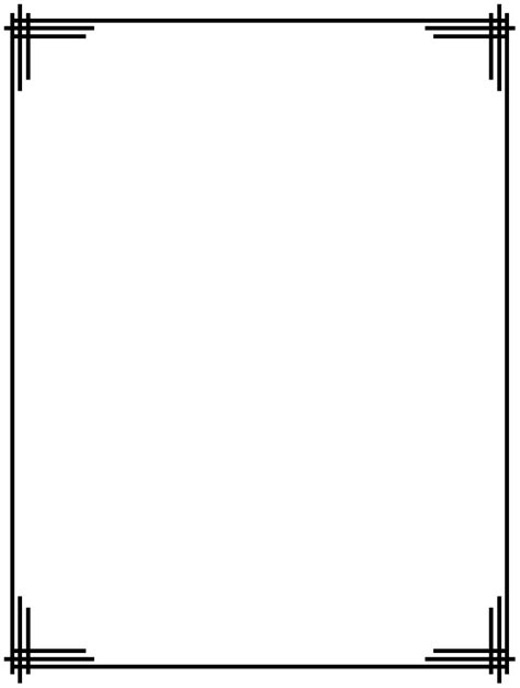 Free Simple Border Designs For School Projects To Draw