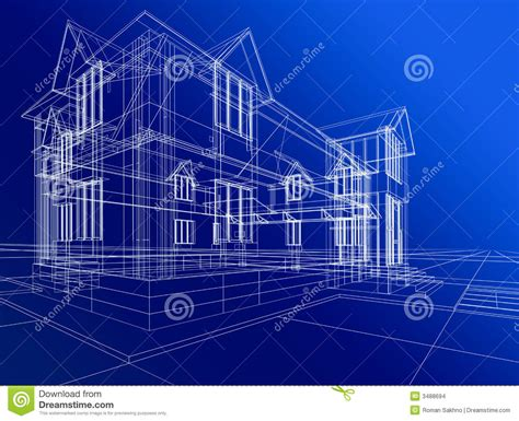 Abstract House Construction Stock Images   Image: 3488694