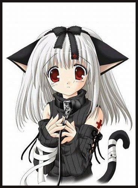 fille chat gothique manga